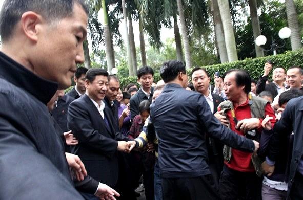 国家领导人习近平到访深圳渔民村和莲花山公园
